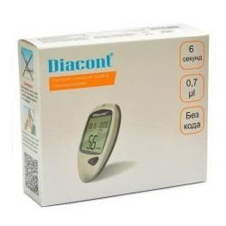 "Глюкометр ""ДИАКОНТ"" Diacont  комплект(10 полосок,10 ланц,батар.)"