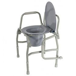 Кресло-туалет 10583 (шир. 47, 115 кг) с откид.подлокот.