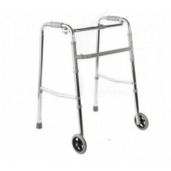Опоры-ходунки регул. на 2-х колёсах  R.R Wheel (хром и бронза)